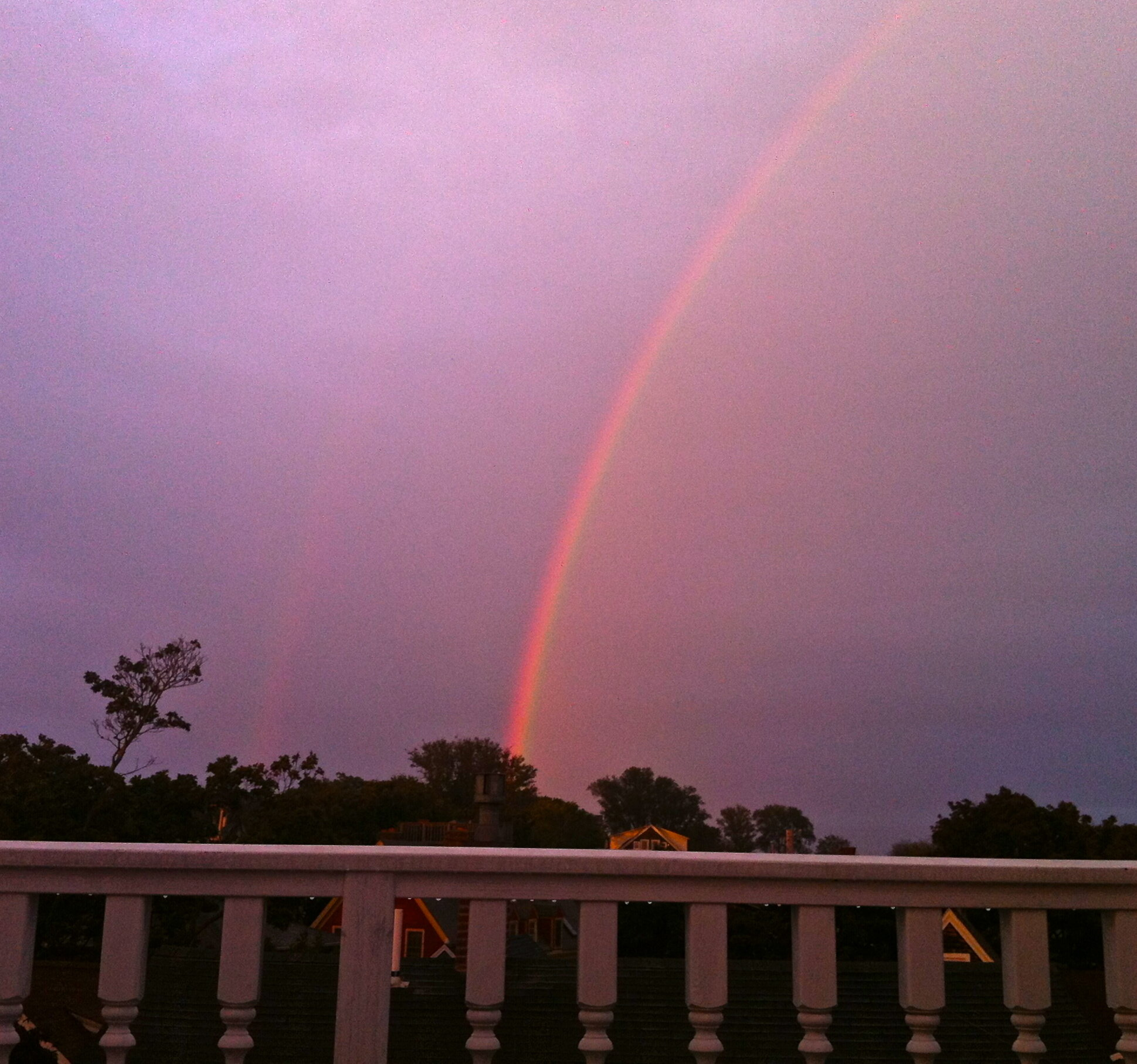 Rainbow from the Penthouse of our Ptown boutique hotel