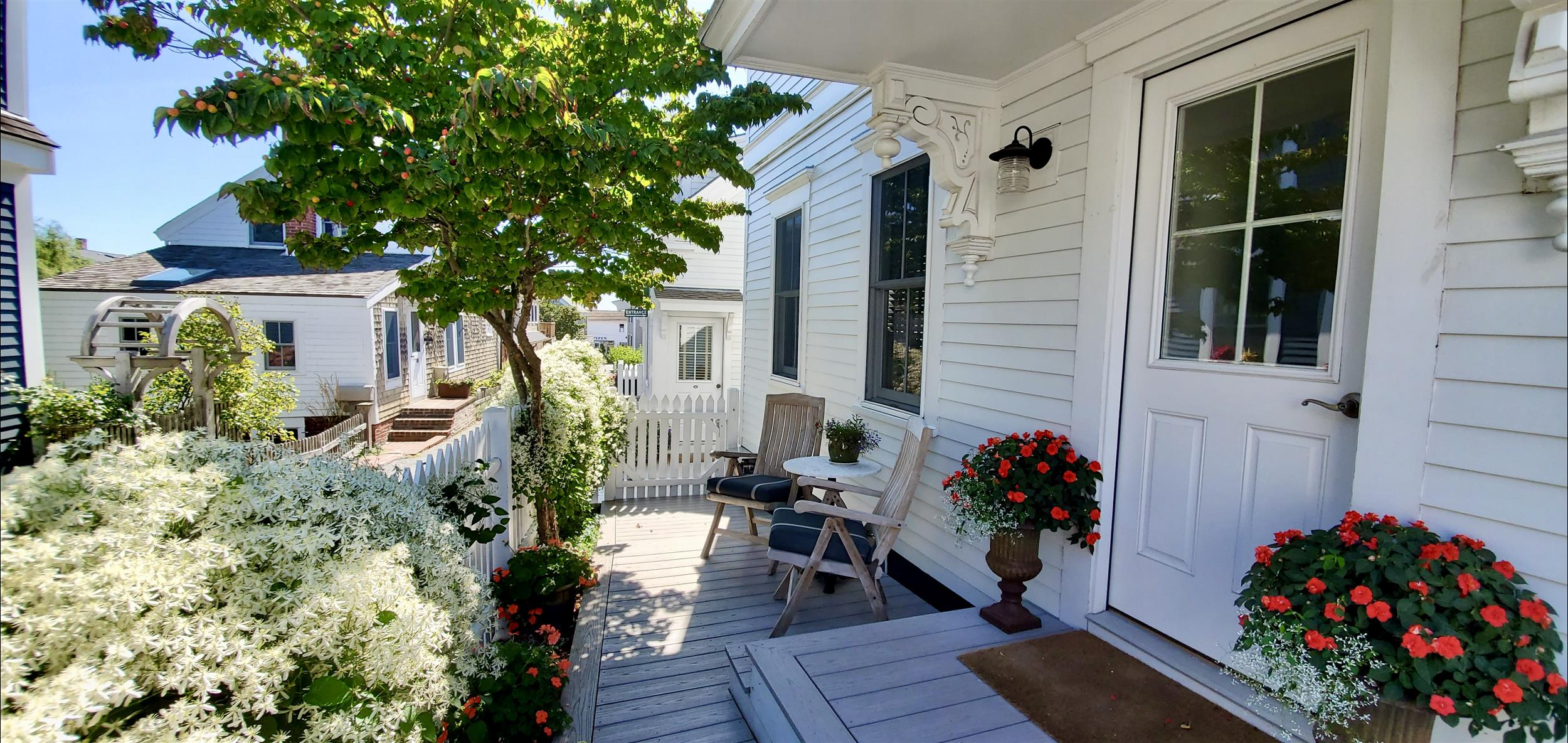 Private porch and entrance of the Herring Cove guest room